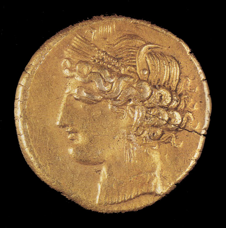 Carthage coin with Phoenician image
