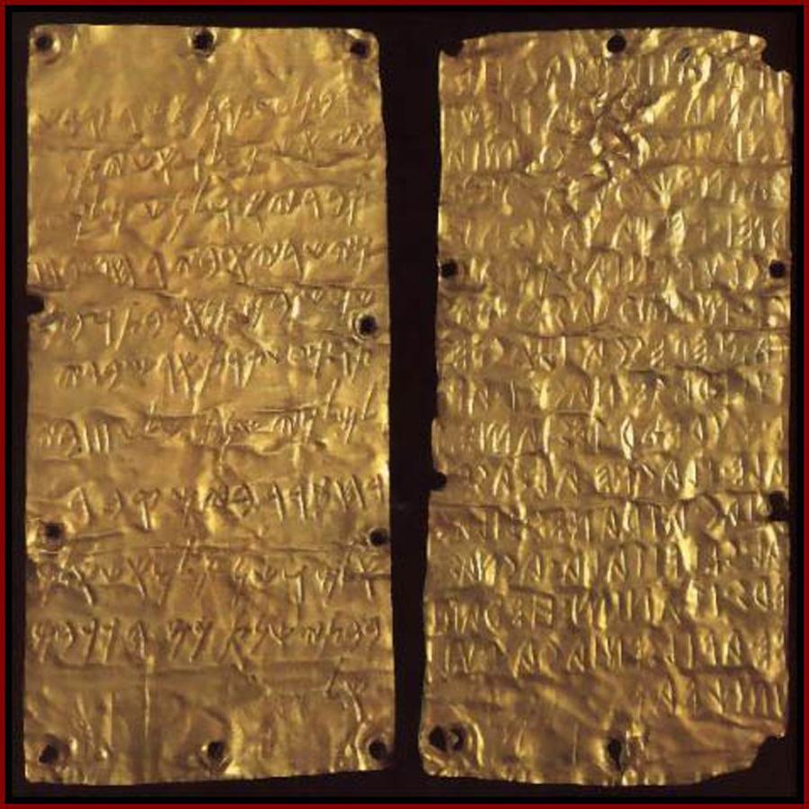 Gold Phoenician alphabet