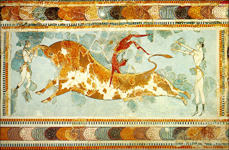 Who were the Minoans, bull leaping