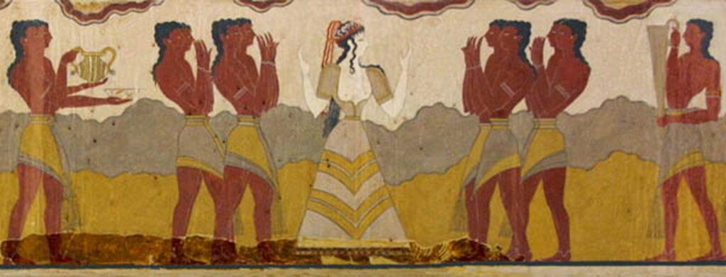 Minoans fresco Phoenicians
