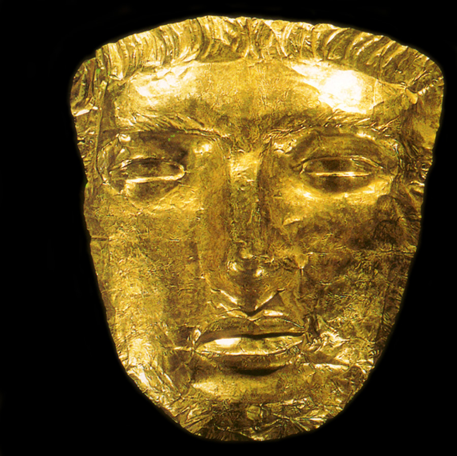 Gold mask of Phoenicians